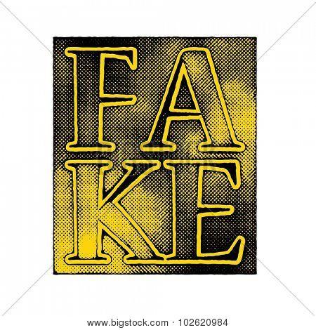 fake art concept vector background