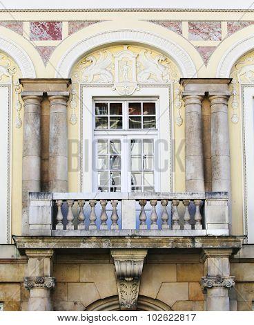 elegant balcony.