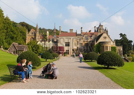 People visiting Tyntesfield House near Bristol Somerset England UK