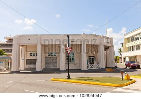 Post Office In George Town Of Grand Cayman Island