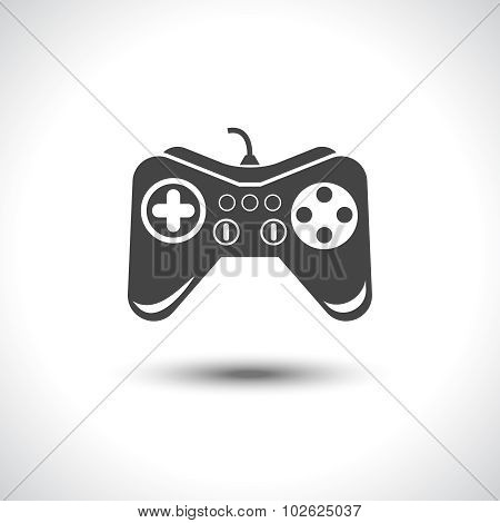 Gambling games joystick black reflection icon