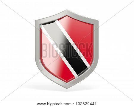 Shield Icon With Flag Of Trinidad And Tobago