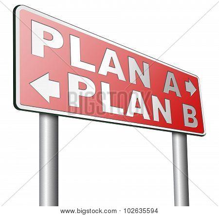 Plan A Or B Alternative Options