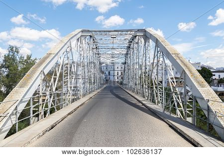Iron Bridge Over River