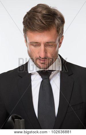 Businessman with bag