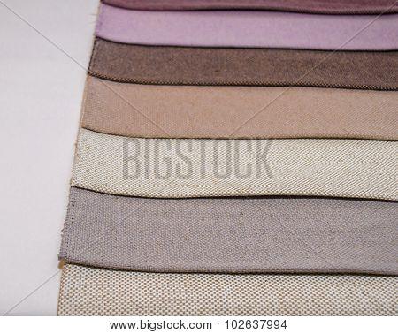 Scraps of colorful rough textile texture