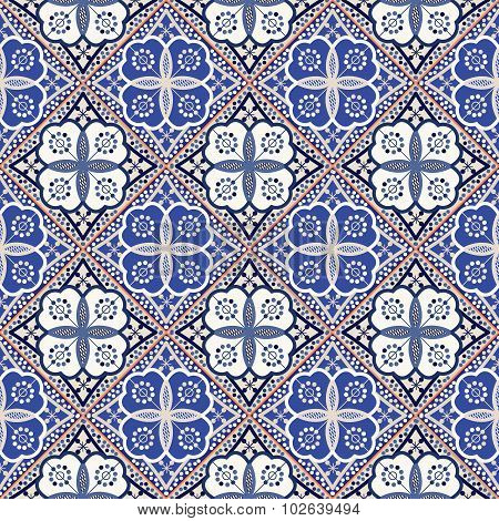 Gorgeous seamless  pattern from colorful Moroccan tiles