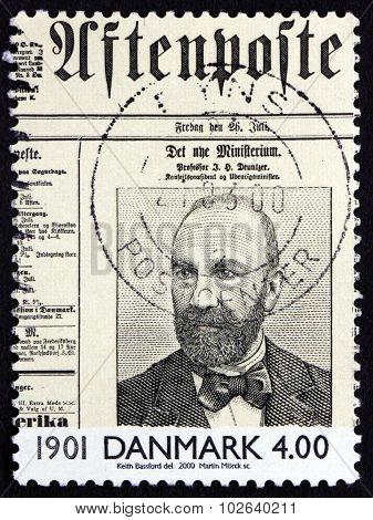 Postage Stamp Denmark 2000 Prof. J. H. Deuntzer