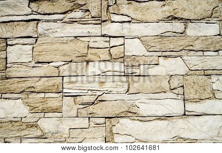 Decorative Relief Cladding Slabs Imitating Stones On Wall