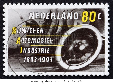 Postage Stamp Netherlands 1993 Early Automobile