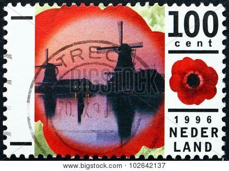 Postage Stamp Netherlands 1996 Windmills