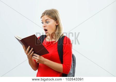 Surprised student