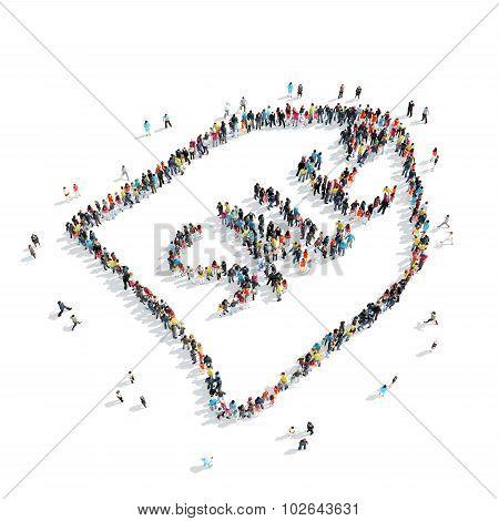 people  shape  tag  crowd sale
