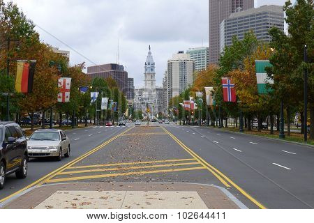 Benjamin Franklin Parkway and Philadelphia City Hall