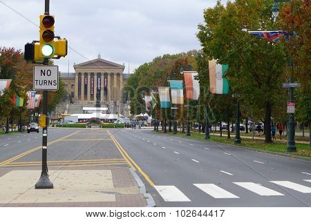 Benjamin Franklin Parkway and Philadelphia Museum of Art