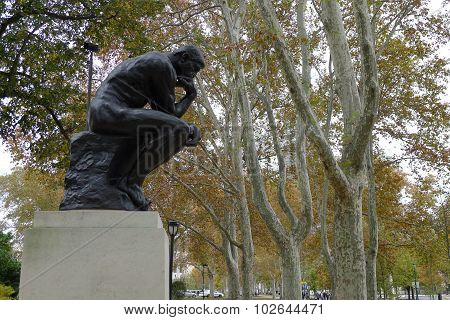 The Thinker in Autumn