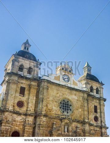 Colonial Style Church In Cartagena De Indias Colombia