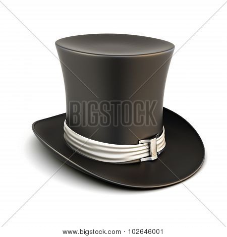 Cylinder Hat On A White