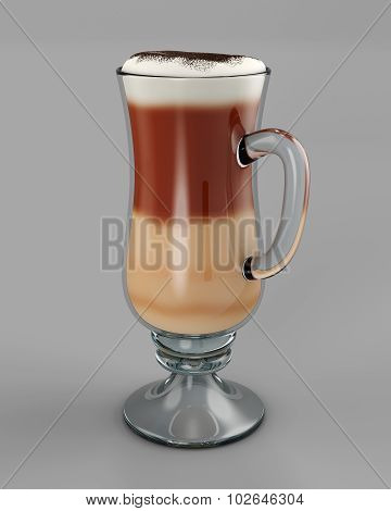 Cold Cafe Latte In Glass