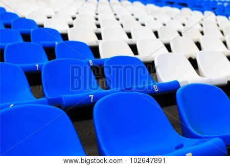 empty seats in the stadium