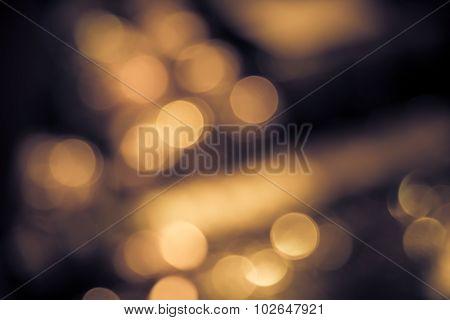 Abstract Blur Bokeh Defocused Of Light In City  Split-tone Background