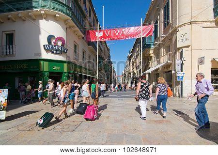 Pedestrians Valletta