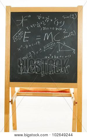Blackboard With Mathematics Formulas