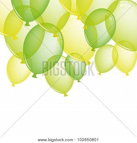 Festive Green Balloons