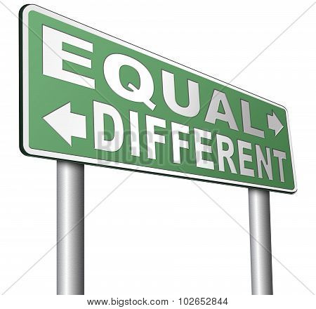 Equal Or Different