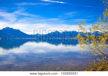 Forggensee In Allgaeu In Autumn