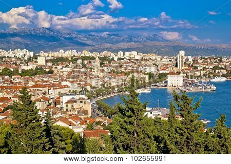 City Of Split Riva Aerial View