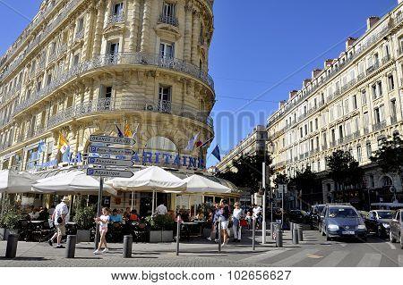 Marseille Old Buildings Facades
