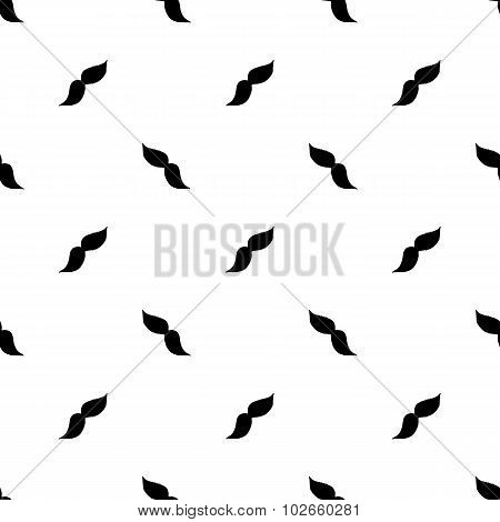 Seamless pattern with moustaches. Hand-drawn background. Vector illustration.