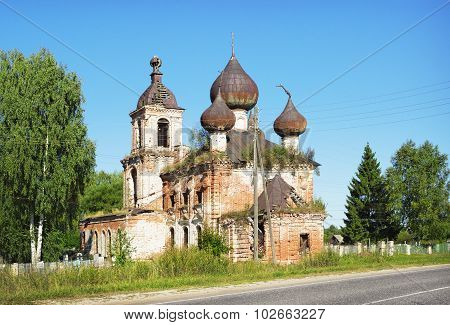 The Ascension Church In The Village Myt Of Ivanovo Region
