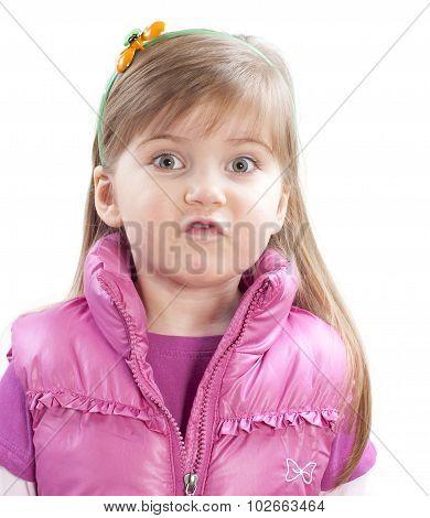 Little Girl Saying Something
