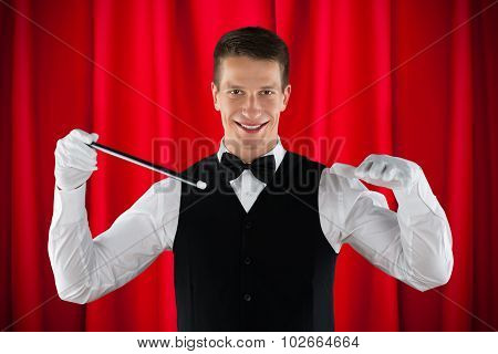 Male Magician Performing Magic