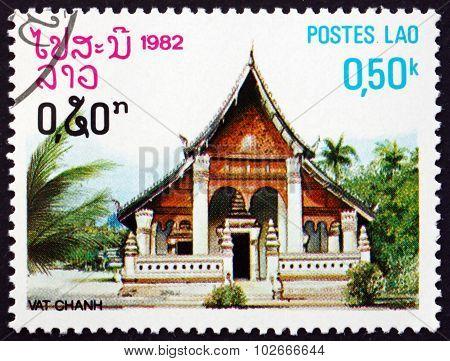 Postage Stamp Laos 1982 Chanh, Pagoda