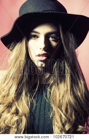 Young Woman In Hat