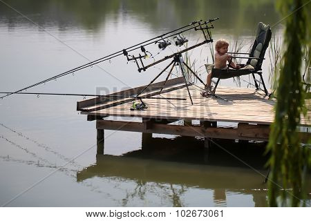 Little Child Fishing