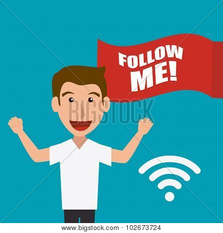 Follow me social and business