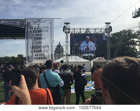 Pope Francis Blessing Americans