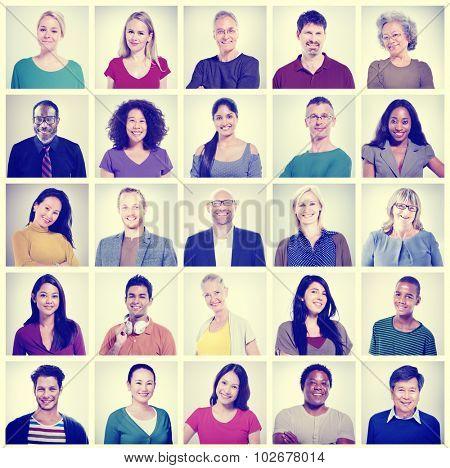 Community Diversity Group Headshot People Concept