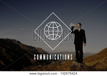 Communications Global World Business International Concept
