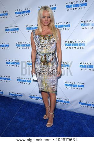 LOS ANGELES - AUG 29:  Pamela Anderson Mercy for Animals presents 'Hidden Heroes' Gala  on August 29, 2015 in Hollywood, CA