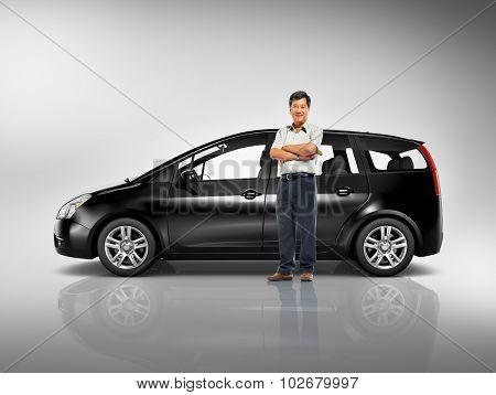 Car Vehicle Station Wagon Transportation 3D Illustration Concept