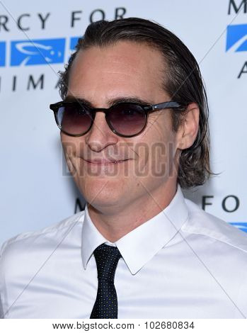 LOS ANGELES - AUG 29:  Joaquin Phoenix Mercy for Animals presents 'Hidden Heroes' Gala  on August 29, 2015 in Hollywood, CA