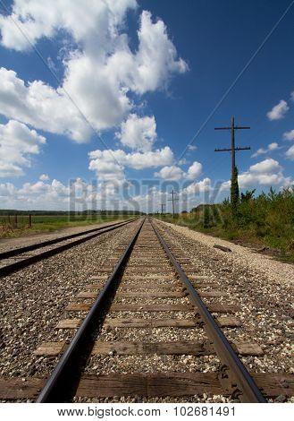 Railroad Tracks & Telegraph Lines