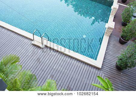 Swimming pool at resort
