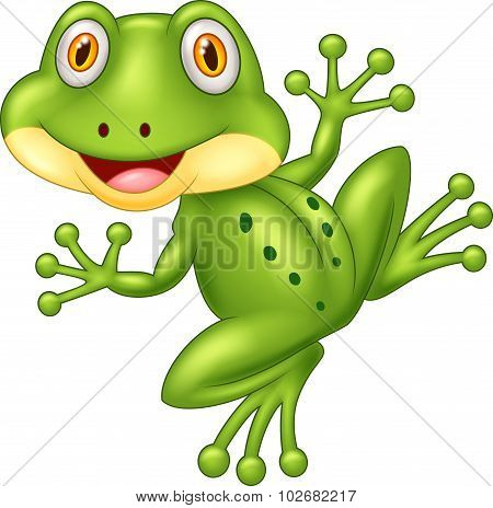 Cartoon cute frog illustration