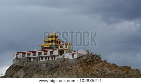 Perspective View Of The Monastery In Leh
